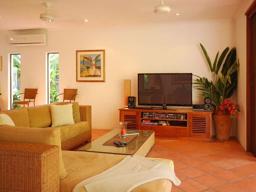 A spacious interior with TV, DVD and wifi internet