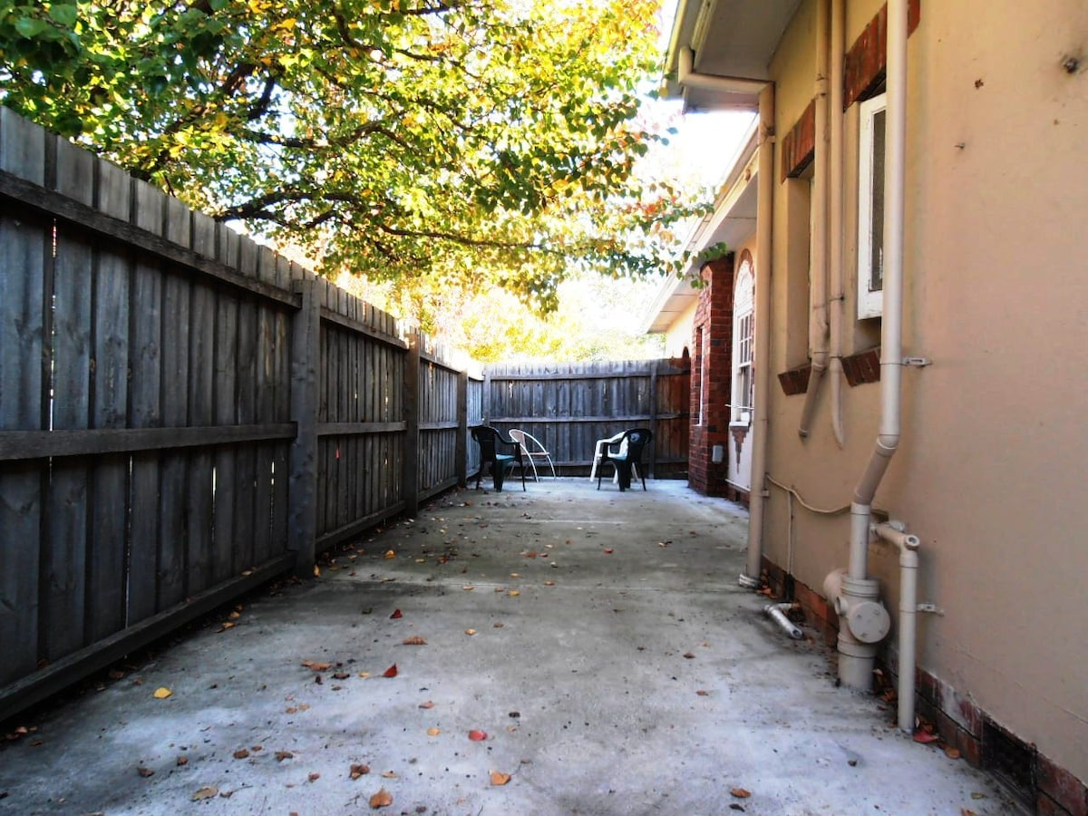 Communal outdoor area.