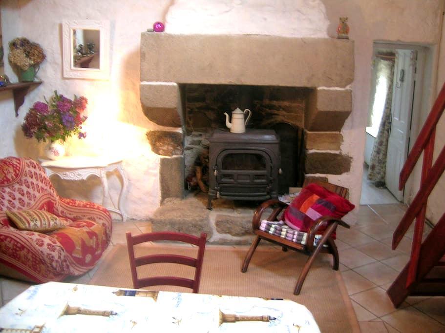 Chaumière Bretonne pierre & verdure - Lannéanou - Haus