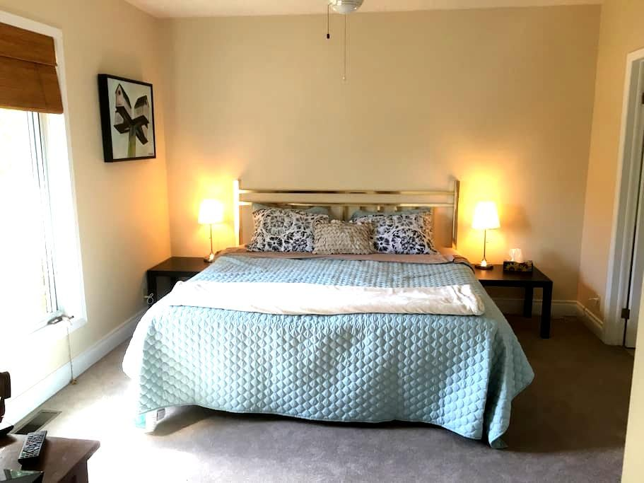 King Bed, Private Bathroom, Kitchen - Kingston
