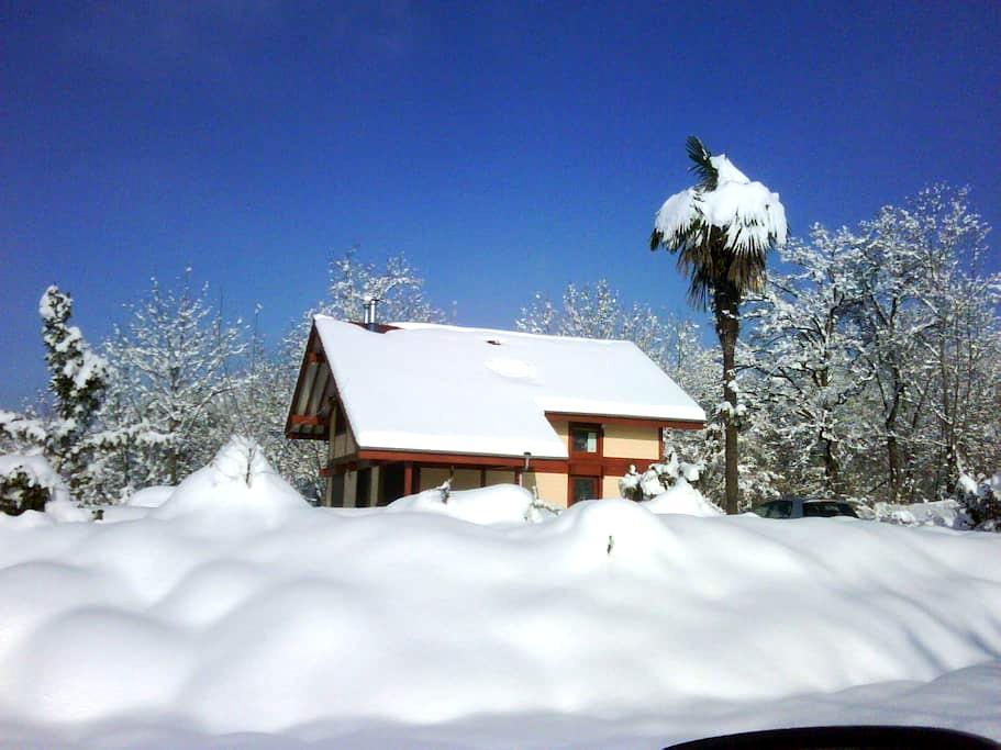 Wood  house with outside hottub - Saint-Genix-sur-Guiers - House