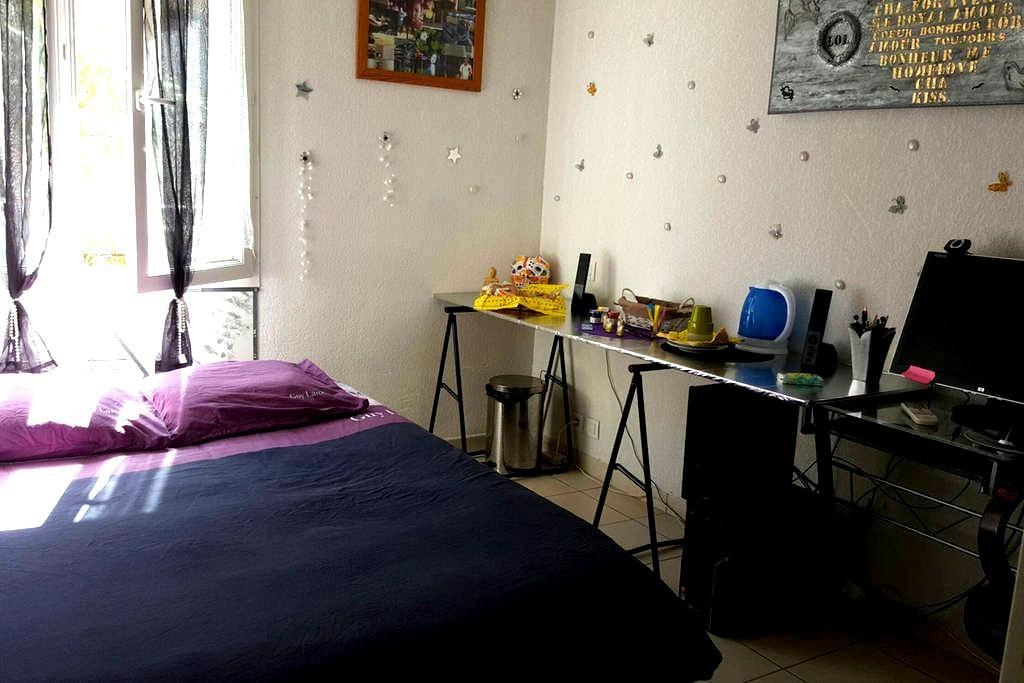 Belle chambre lit deux places - Mandelieu-la-Napoule - Wohnung