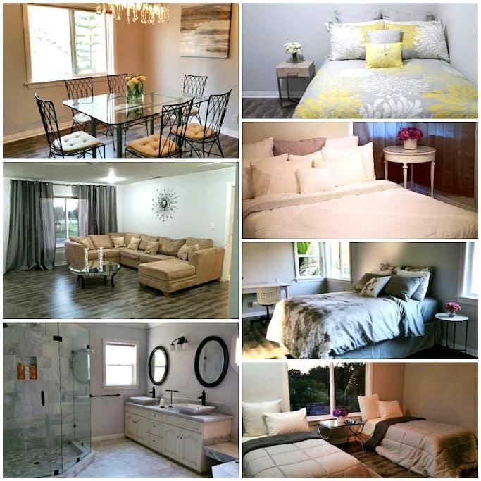 Entire Elegant Home w/marble, 4 bedroom 2 bath - Montebello - Huis