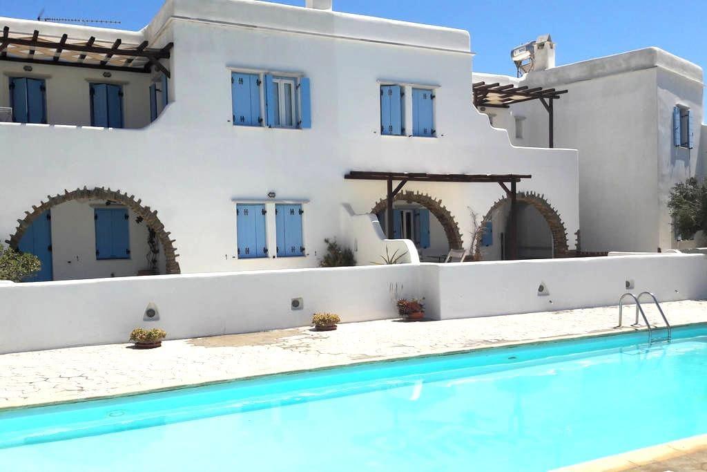 Cozy flat 100m from the beach, pool use, Tinos! - Agios Sostis - Appartamento