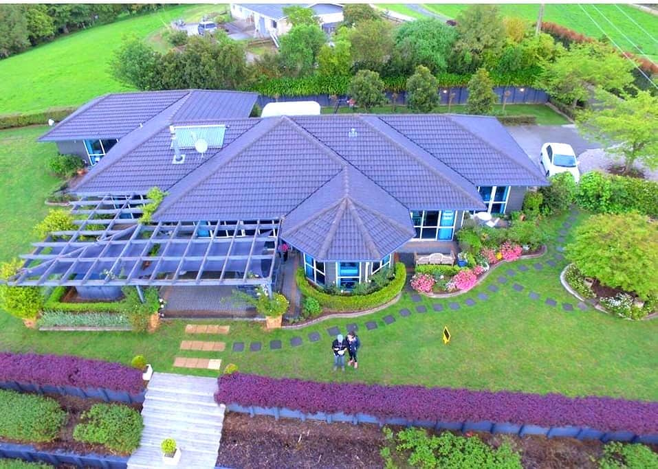 Delux  Twin Single -Waitomo Orchard Estate B&B - Otorohanga - 家庭式旅館