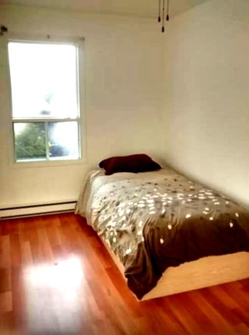 Bedroom with AC (twin bed) Quebec City - Québec City - Appartement