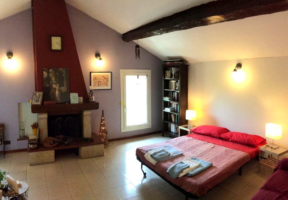 Divano letto, posto auto e bagno privato - Bologna - Leilighet
