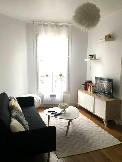 Cozy and spacious typical Parisian apartment - Pantin - Daire