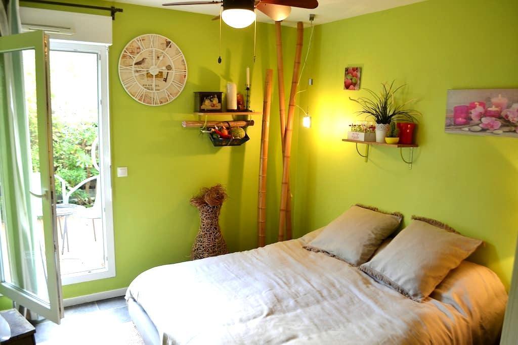 Chambre avec jardin privatif - เปา - อพาร์ทเมนท์