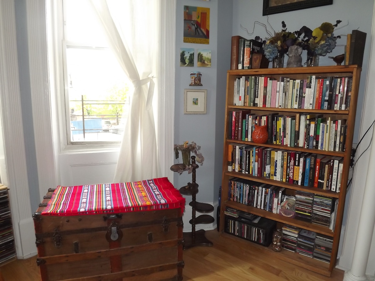 Living room: we have a large collection of books and you are welcome to enjoy them :)