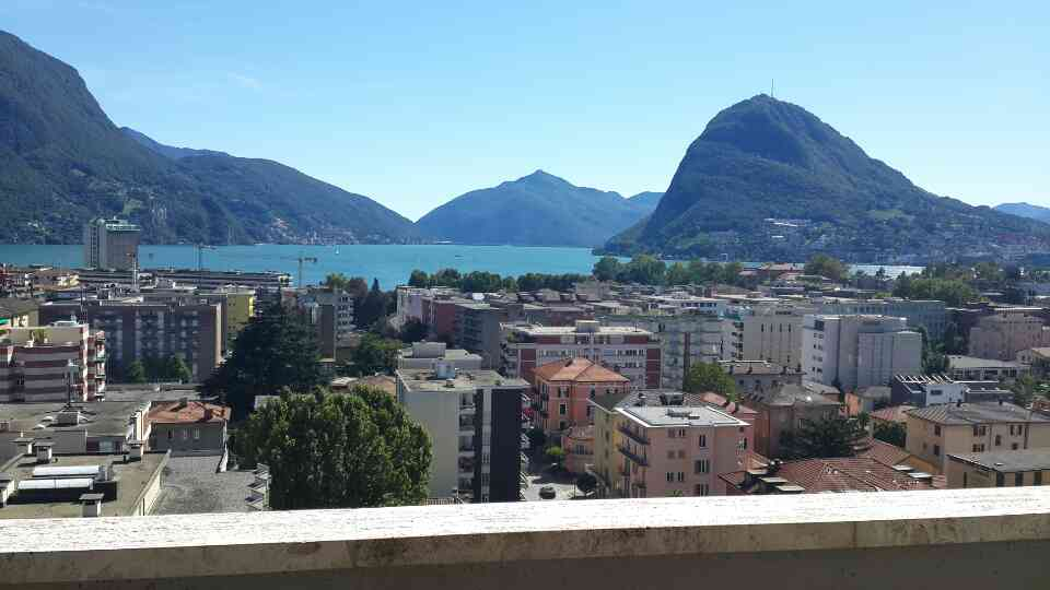 Incredible view of Lugano lake