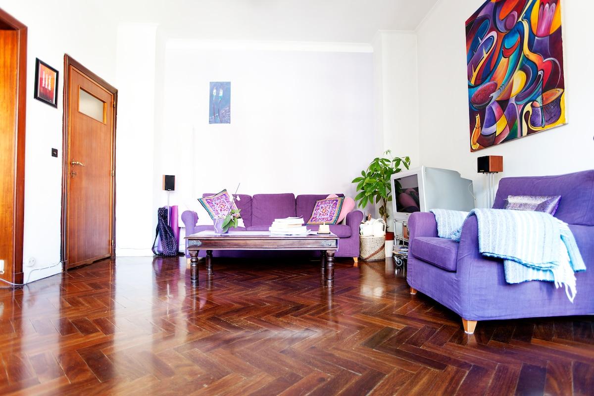 Bright apartment in Louise area