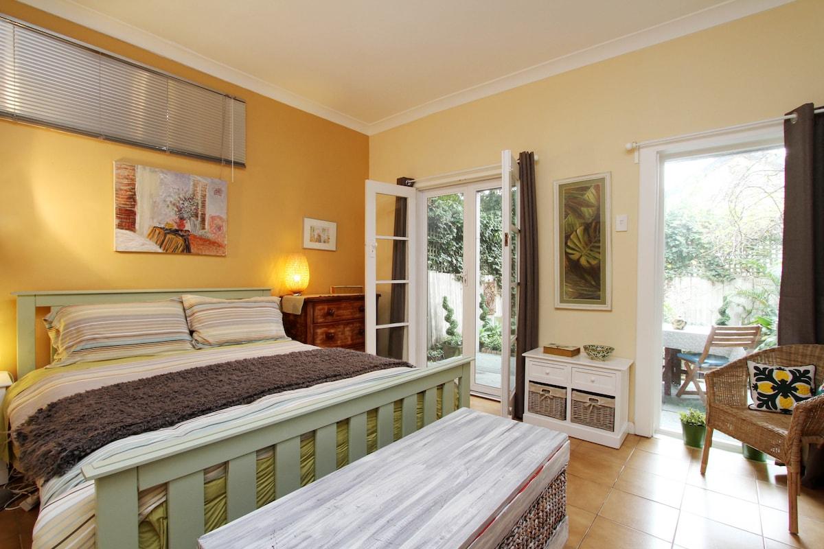Foucart Street, a garden apartment.