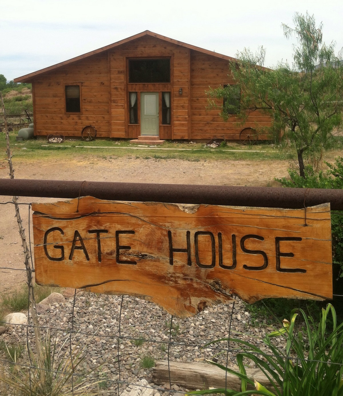 Little log cabin on the Gila