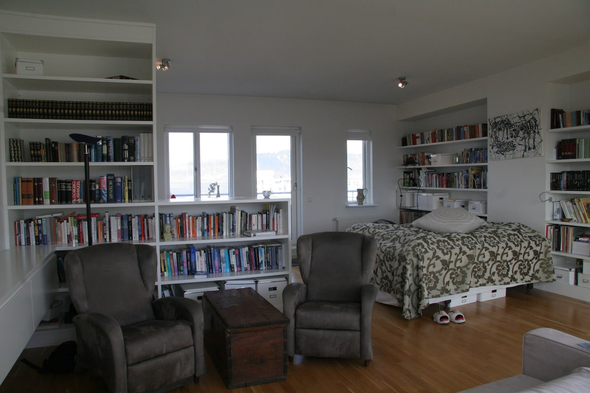 This is the second floor bedroom/study.
