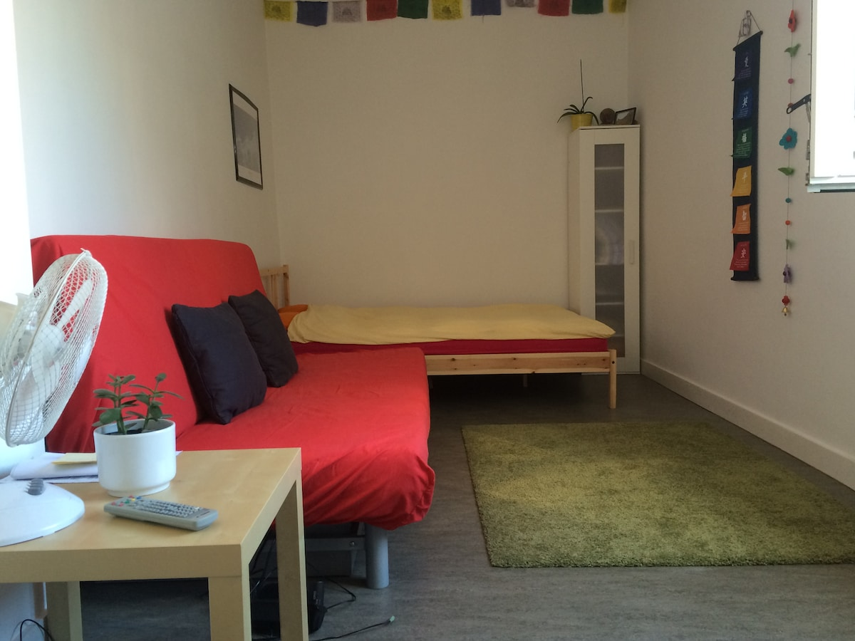 double bed and sofabed
