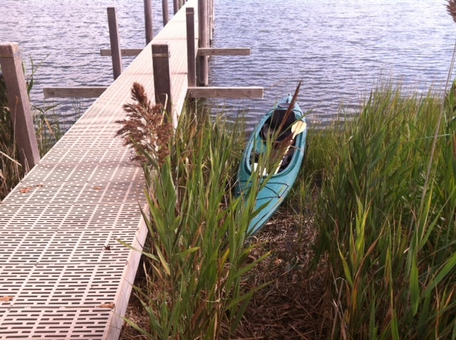 You can tie up the kayak next to the dock.