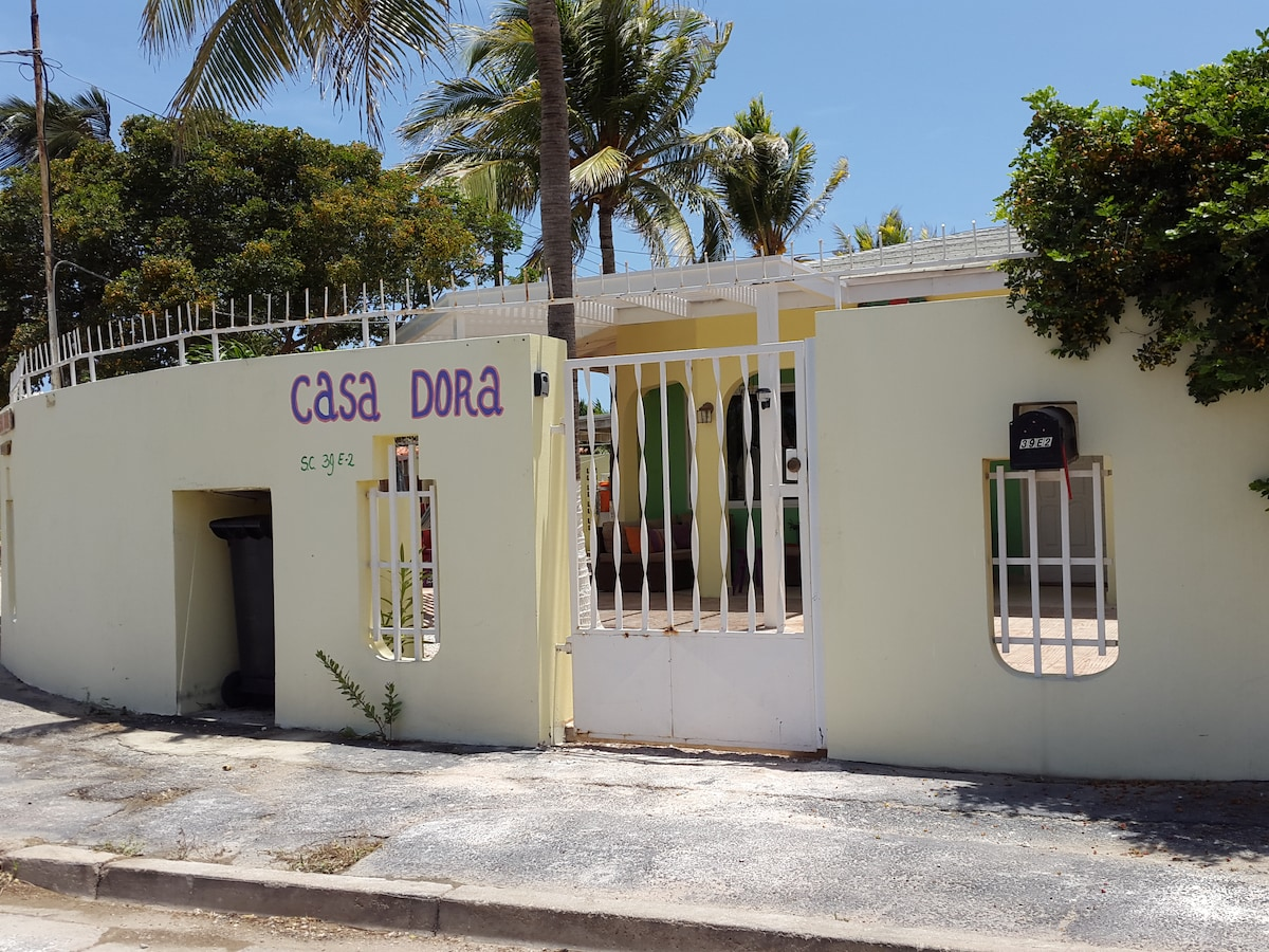 Streetview for Casa Dora. Our fully fenced residence is safe for kids.
