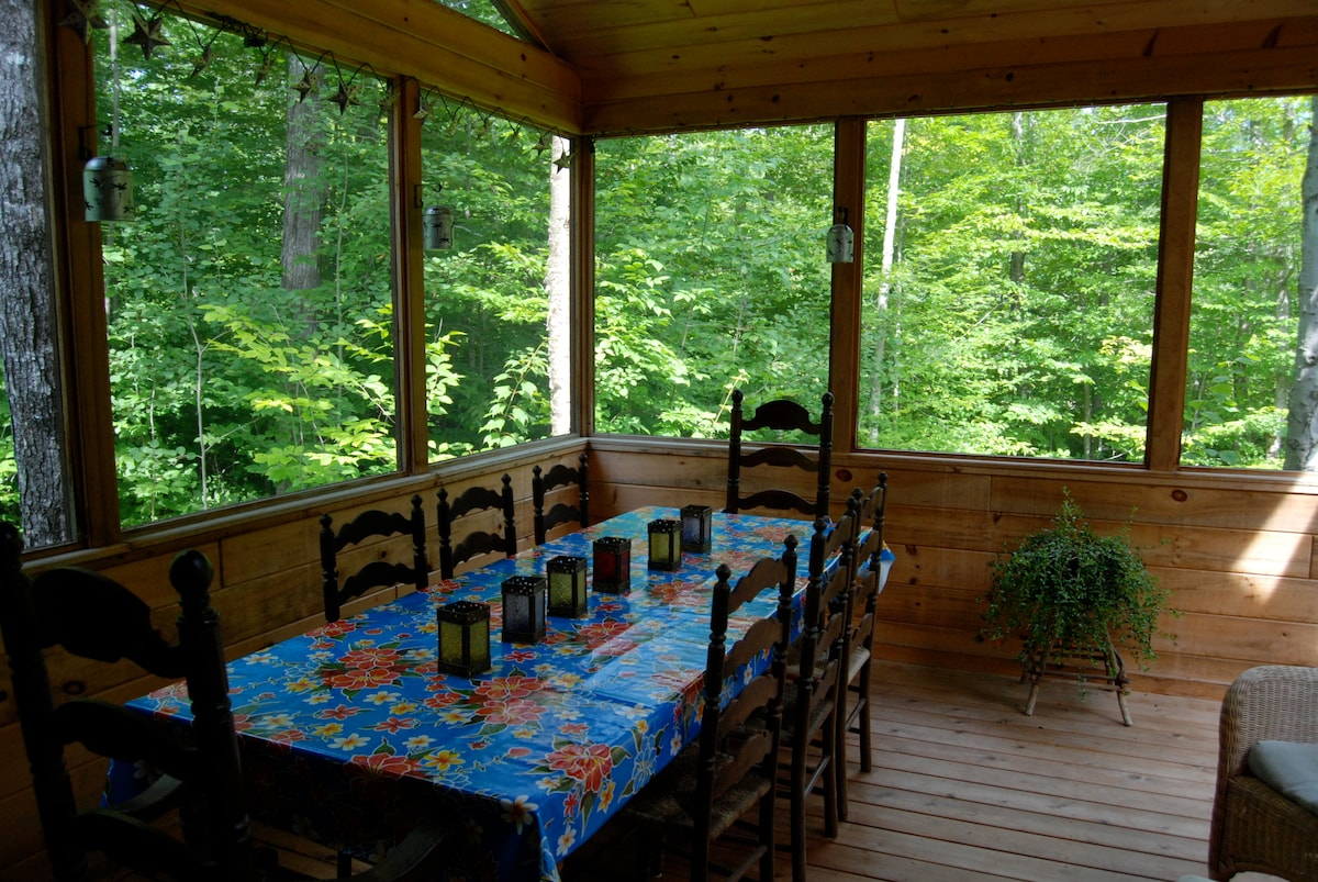 screened-in porch for lazy summer evenings