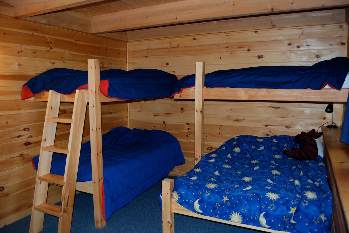 one of 2 bunk rooms downstairs