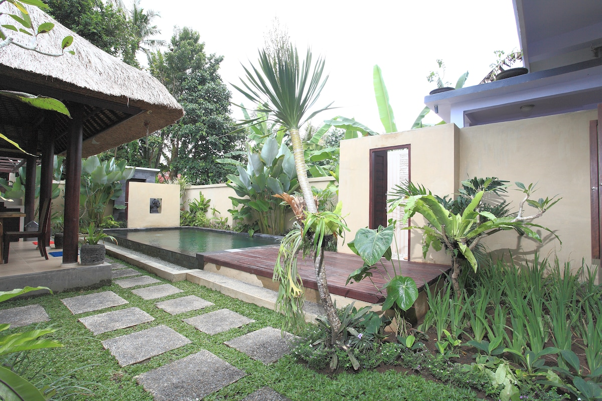 Complete privacy in the pool and garden area