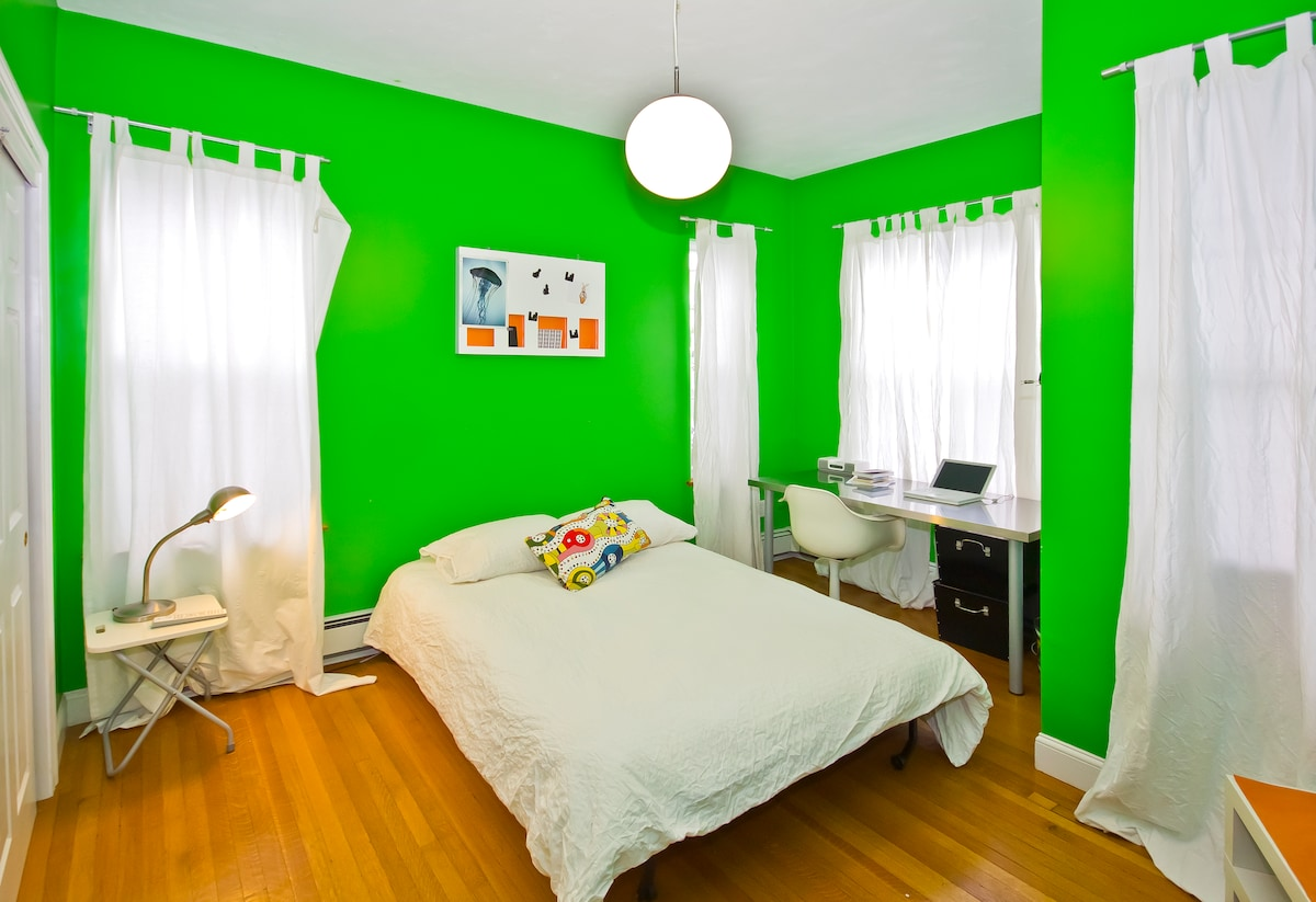 Guest room (the green isn't quite as bright as the photos show!)