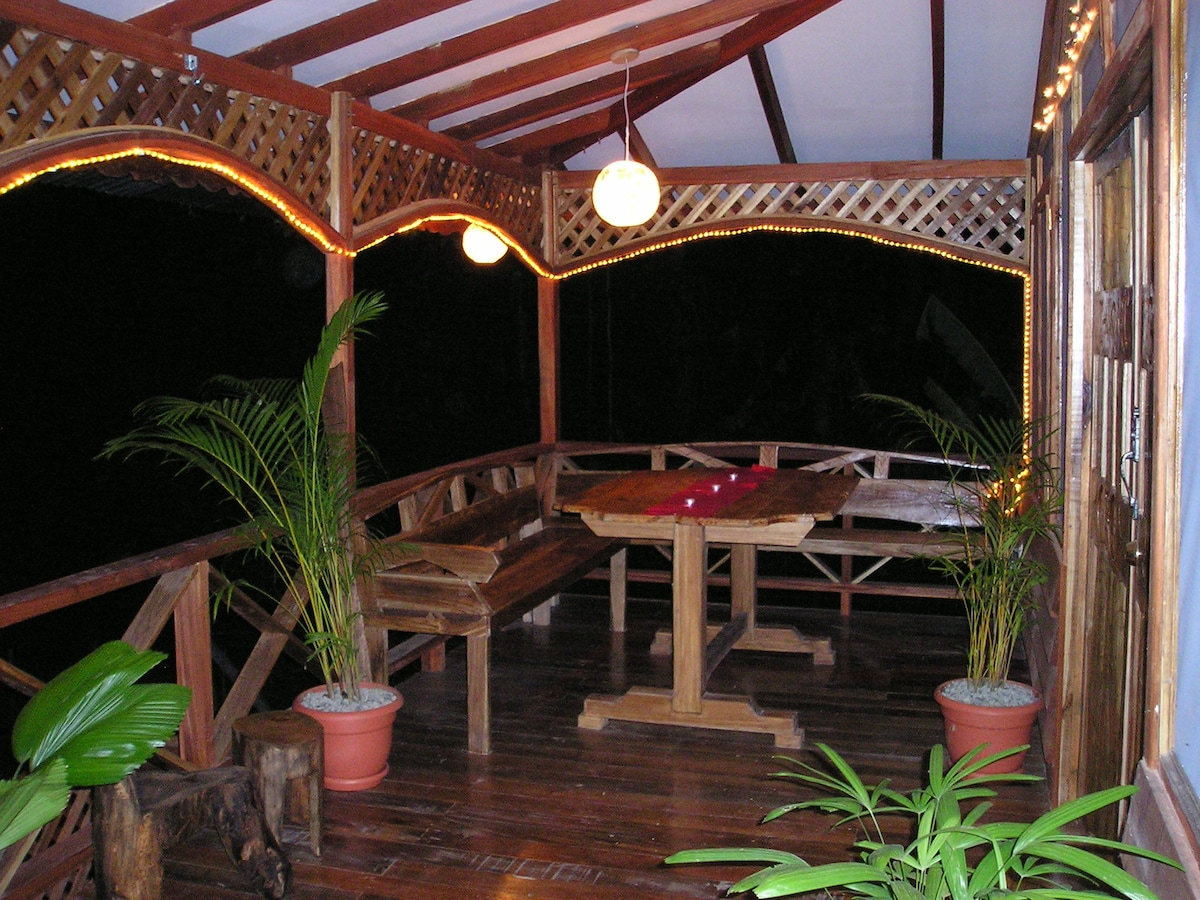 Front porch dining area. 2009