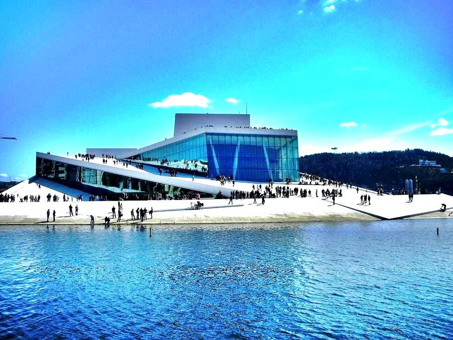 Next to the Opera, Sea view, Close to the Central. - Oslo - Kondominium