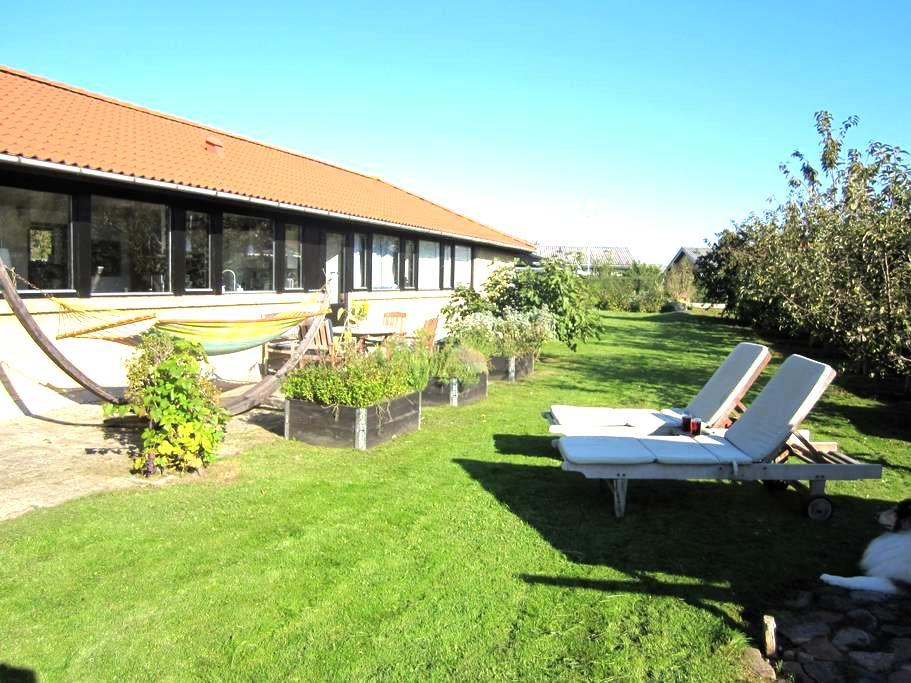 Villa + skøn have tæt på by og vand - Bogense - Hus