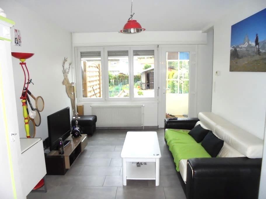 Un petit coin de jardin au cœur de Mulhouse - 米卢斯 (Mulhouse) - 连栋住宅