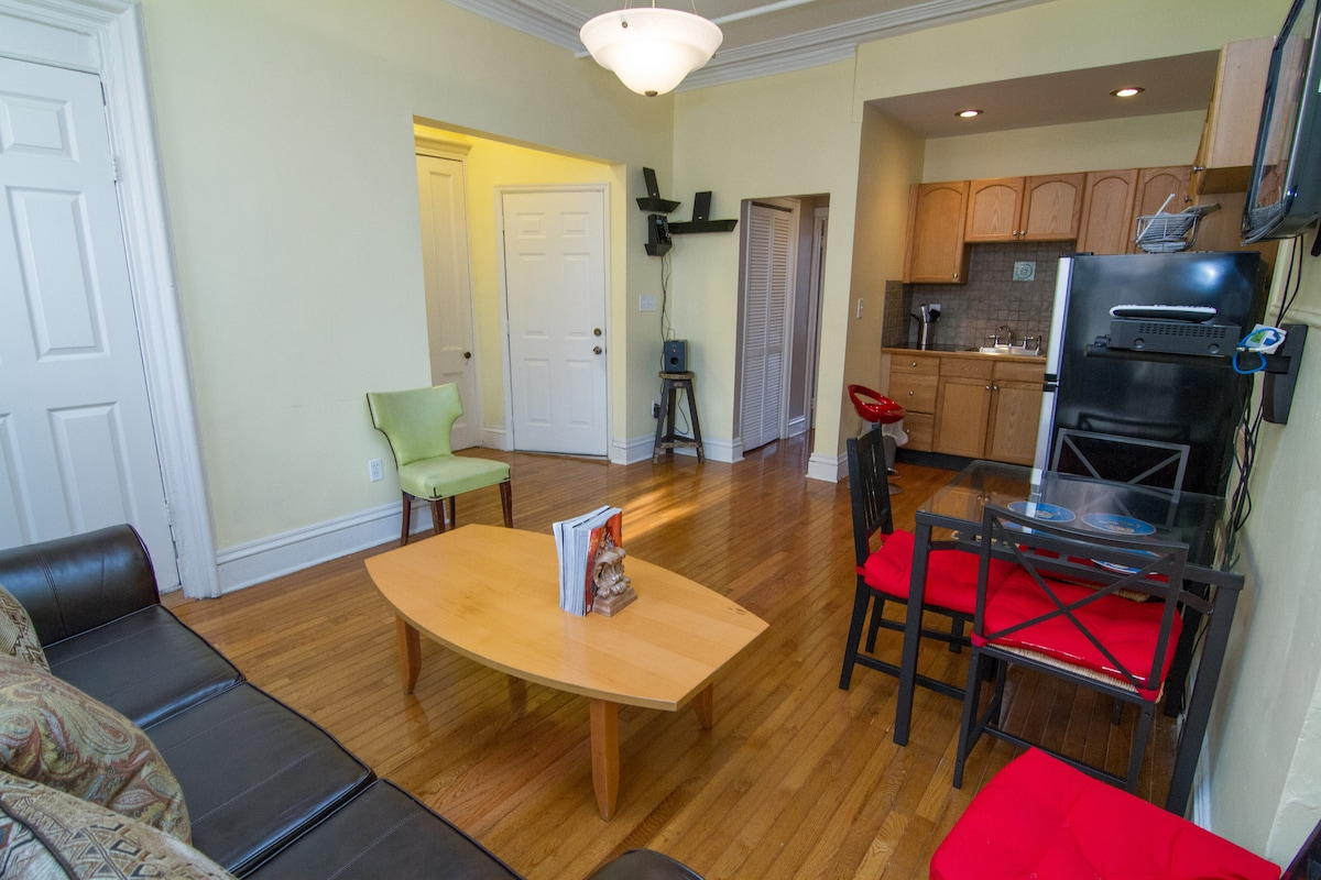 each room has flat screen TV's and Cable and internet service  avail.