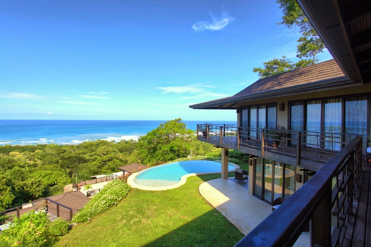 Epic ocean and pool views from the deck
