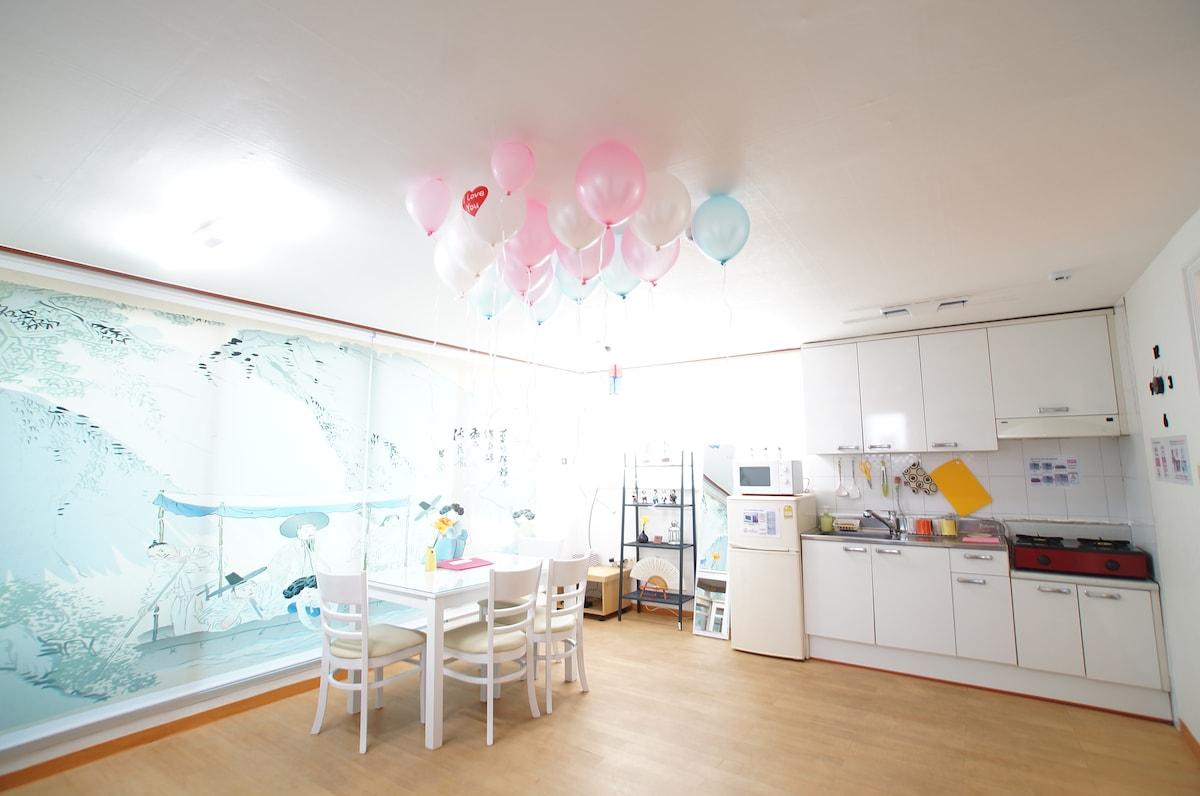 Central Seoul, Itaewon 2room flat