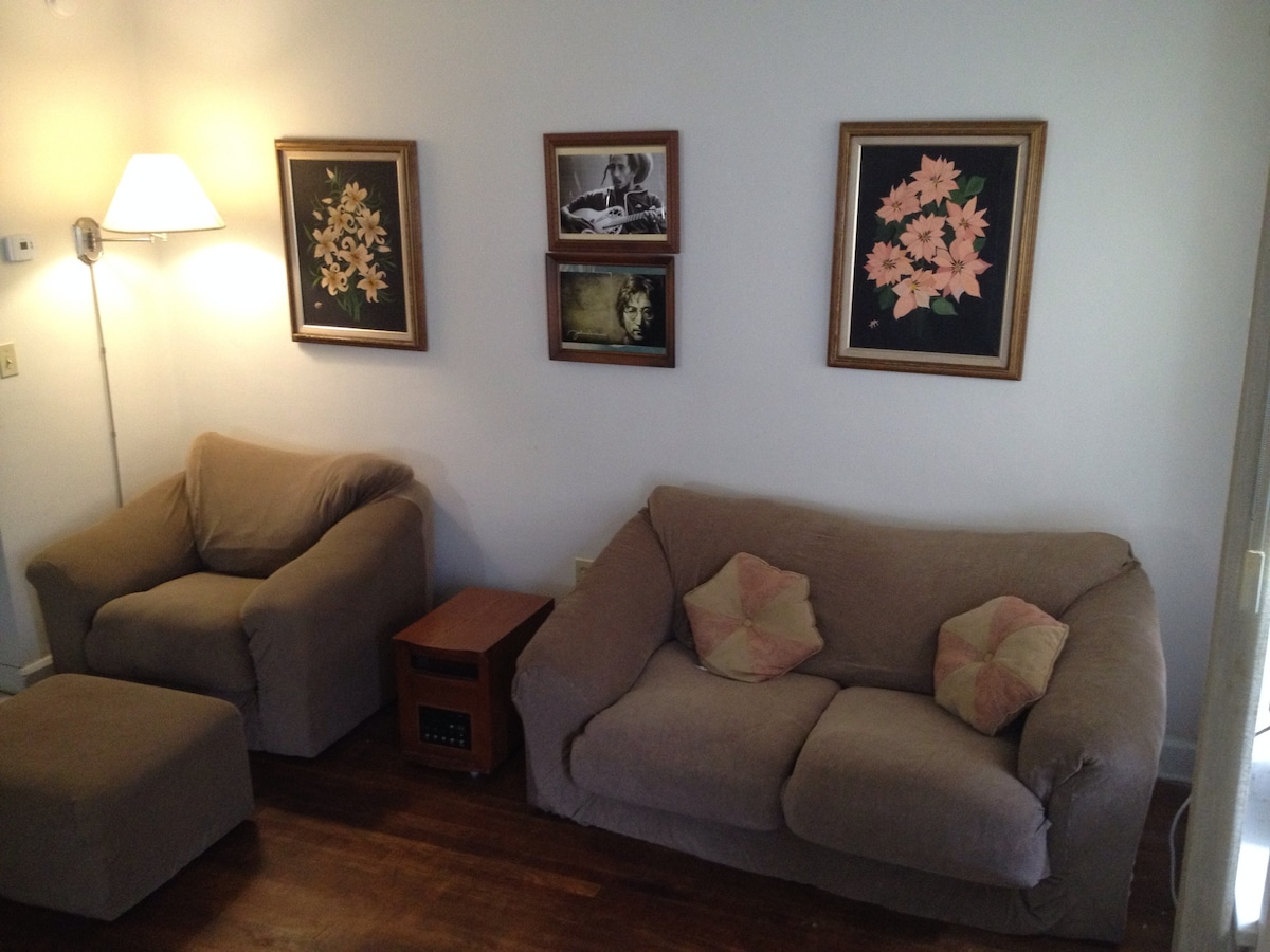 The common area has a matching chair, love seat as well as (click to next photo)...