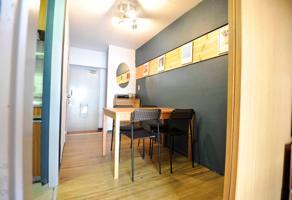 Separate dining room with seating for 4