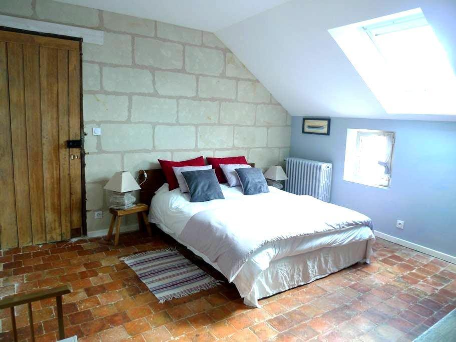 Grande chambre dans une maison de caractère - Saumur - Casa