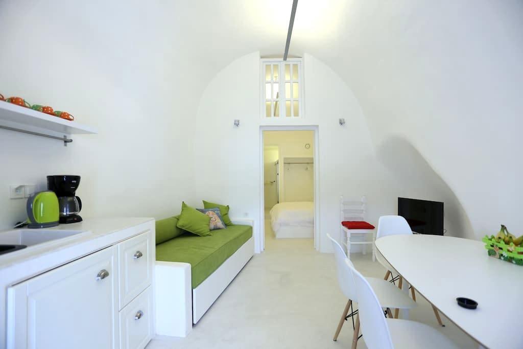 CHELYS 2 architect's semicave villa - Vothonas - Villa