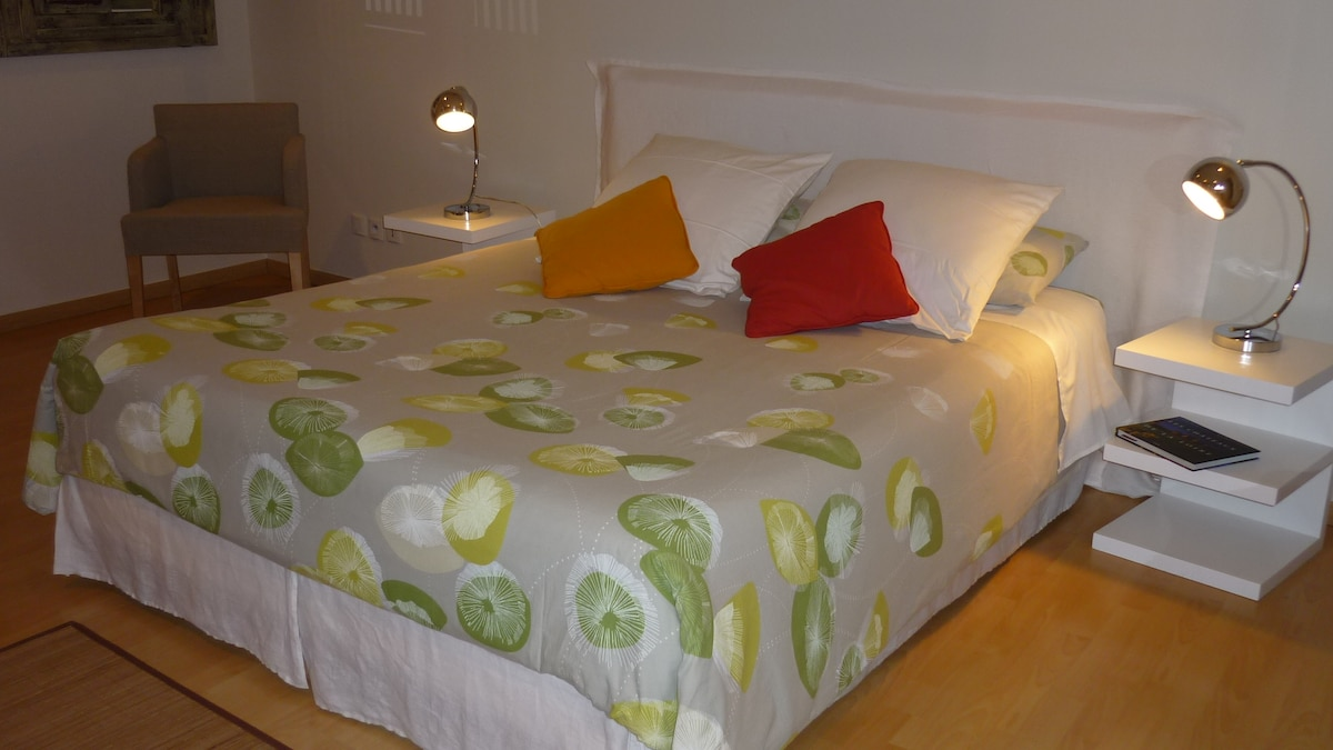 One double bed