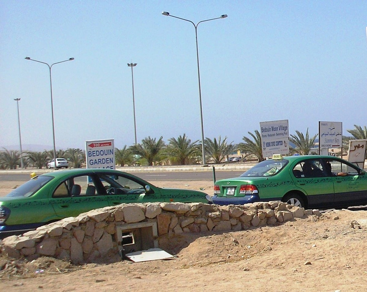 Taxis can take you to Aqaba downtown or even to Wadi Rum and Petra