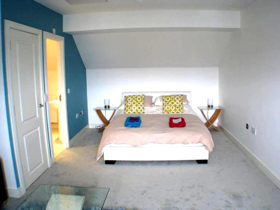 Huge en-suite room in modern house - Exeter - House