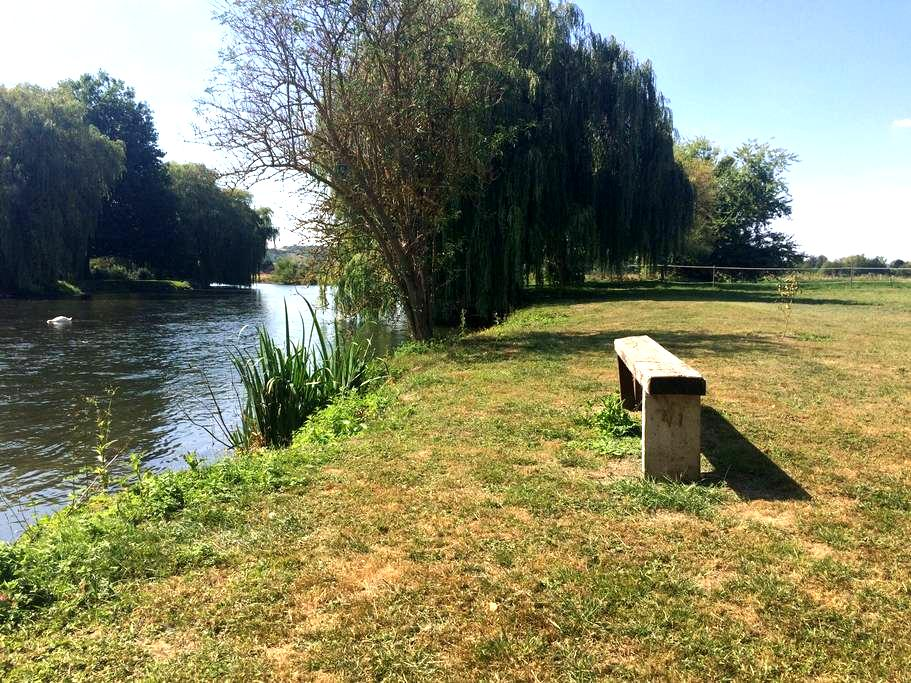 Have a stop in a very quiet place, near the river - La Chaussée-d'Ivry - Flat