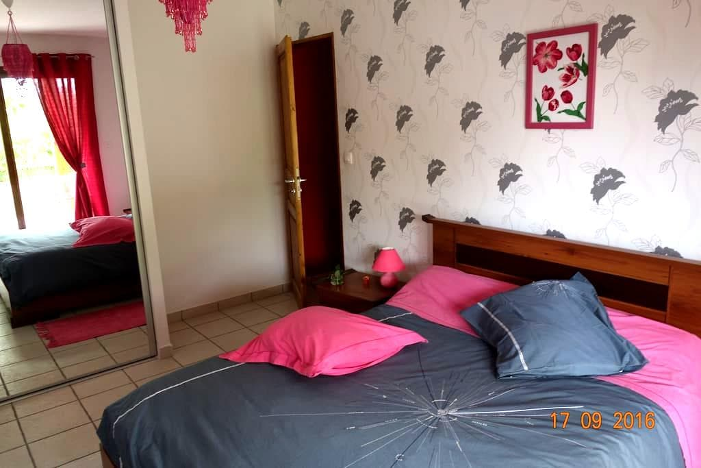 Chambres, terrasse, douche,( cuisine +€) - Veauche - Bed & Breakfast