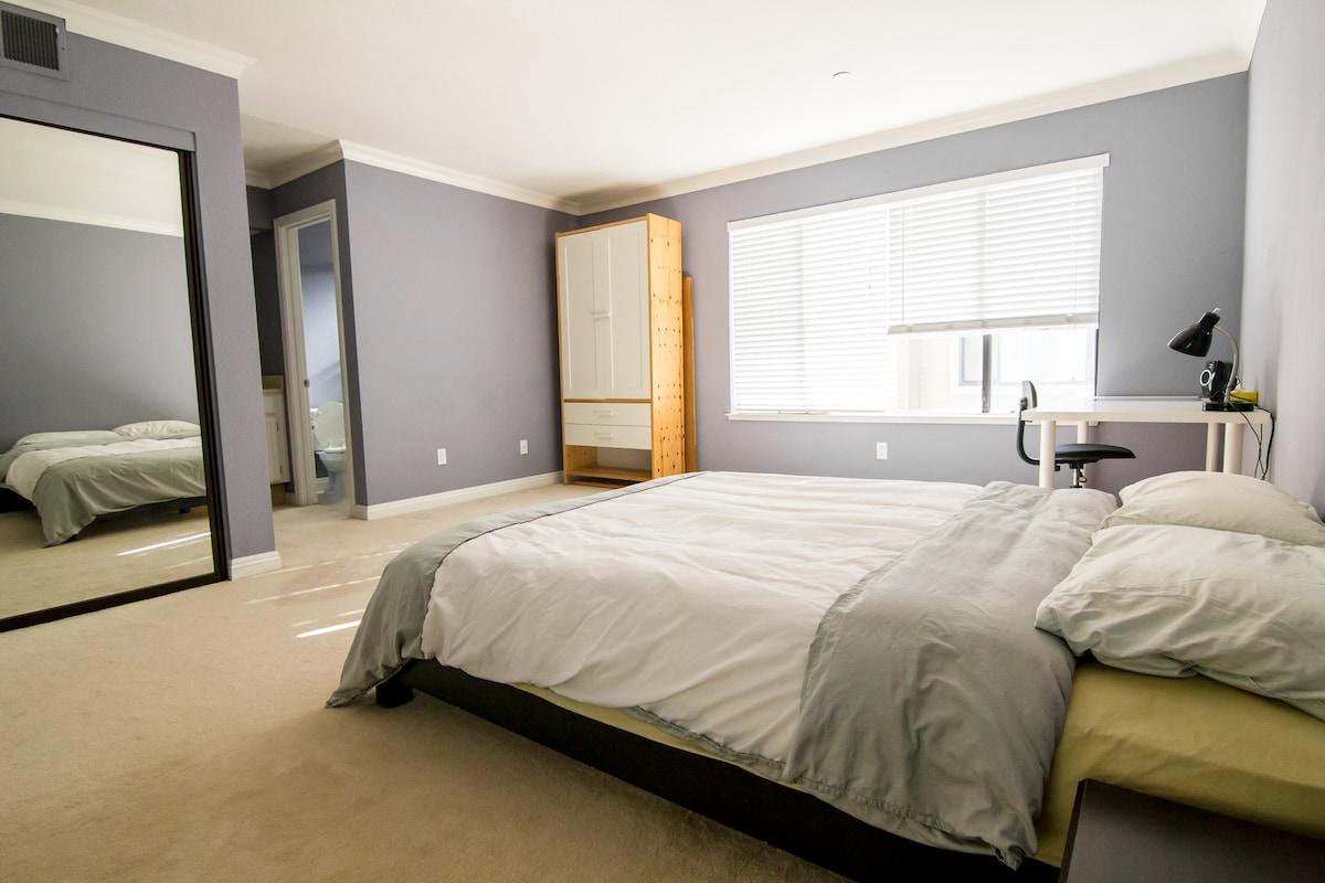 Sunny Master Bedroom + Private Bath