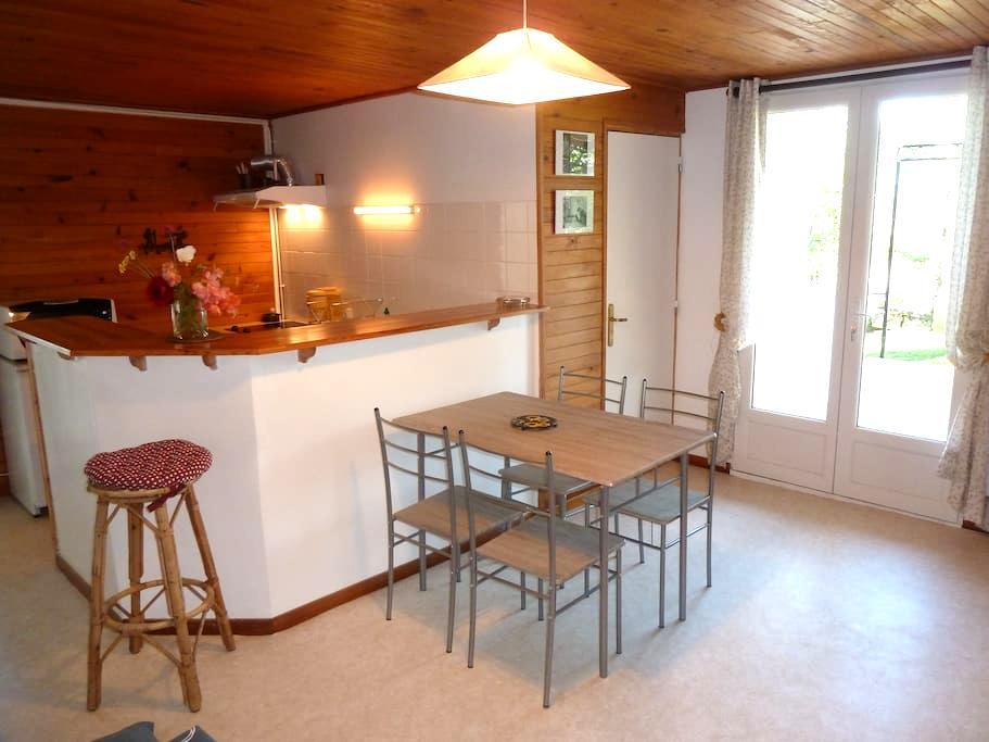 Appart T2 (6pers) avec jardin au calme - La Bâtie-Neuve - Apartamento