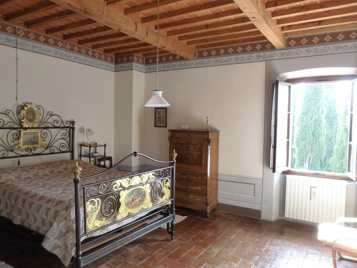 Rooms in a classical Tuscan villa