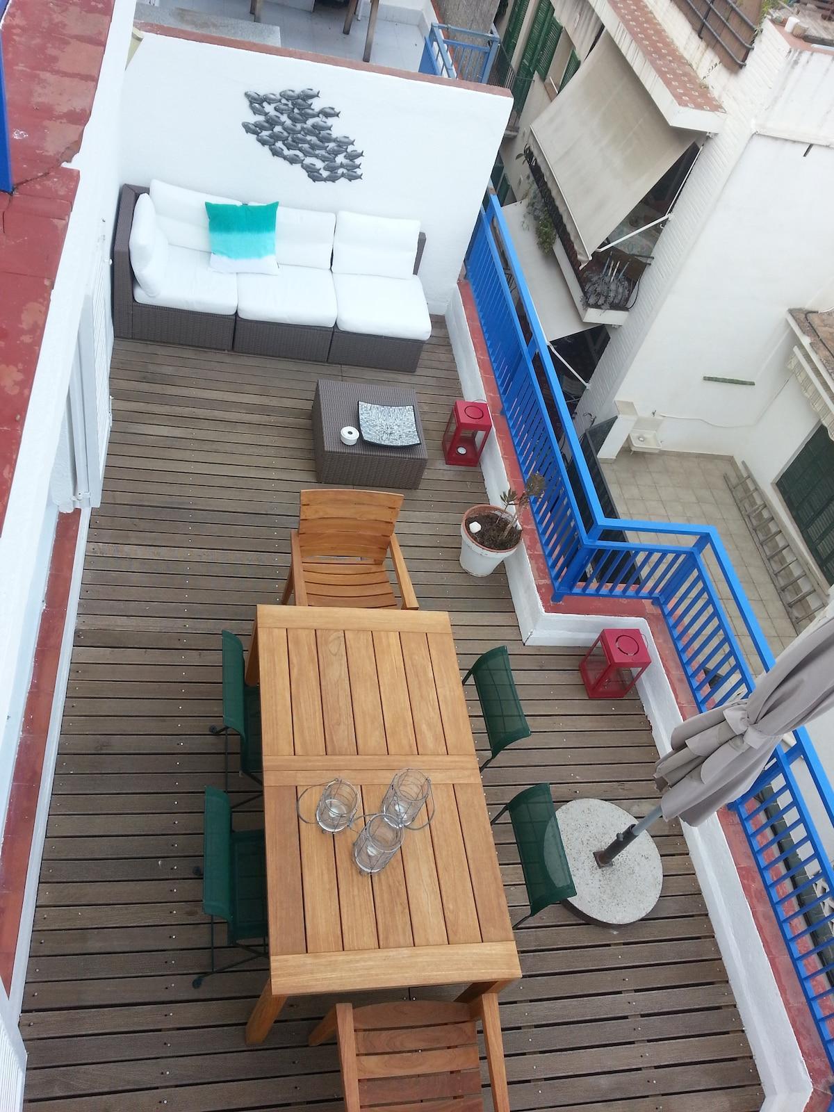 terrasse 1 vue de l'étage