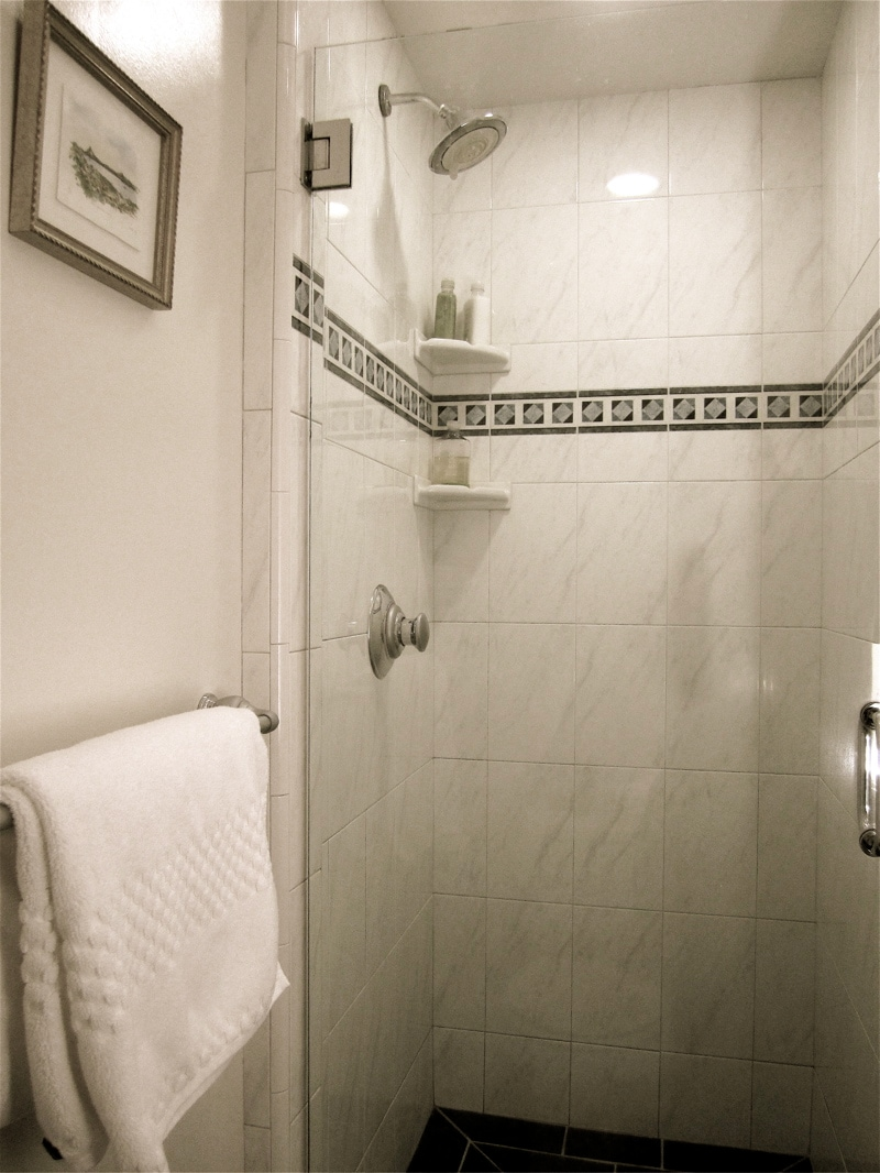 your personal shower adjacent to your room