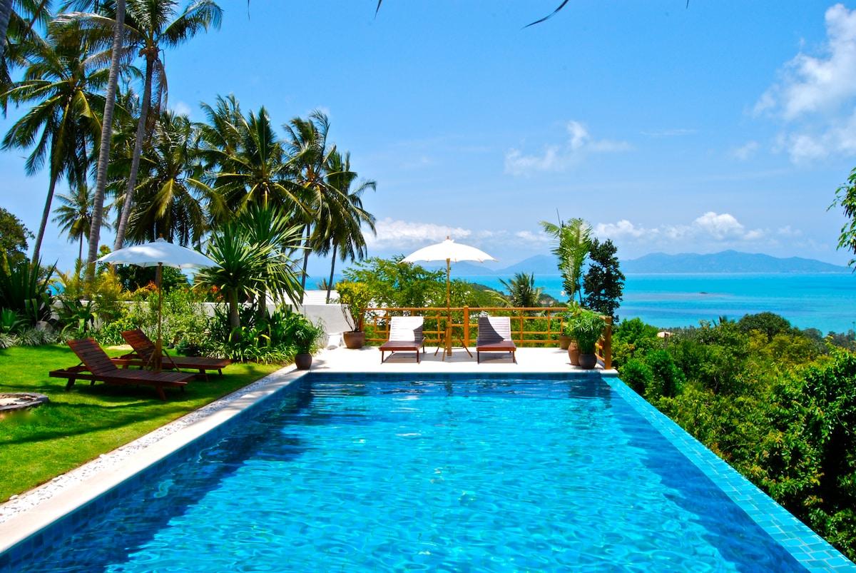 Barefoot luxury ocean view + pool