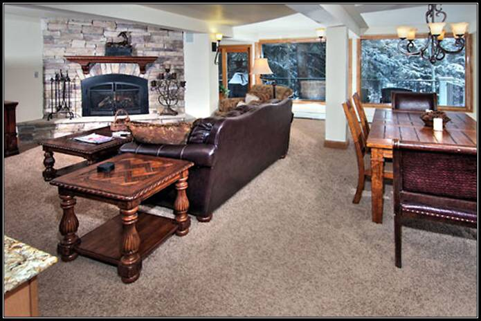 Living Room and Dining room is enveloped into one Great Room so guests can all be together