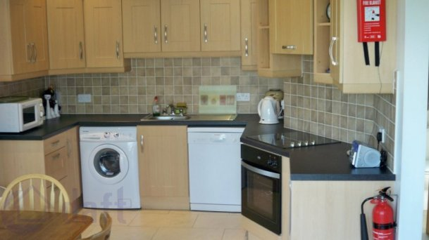 Modern kitchen, dishwasher, clothes-washer, microwave, electric oven and hob, fridge, radio, kettle, toaster etc